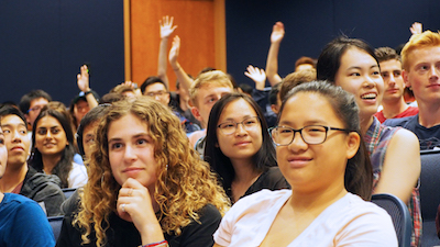First-year student attendees at the 2018 Physical Sciences new student welcome event.