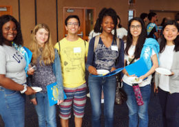 First-year Physical Sciences students at the welcome event reception