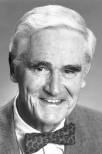 A black and white photo of Donald Cram, Nobel Prize winner in chemistry and professor at UCLA.