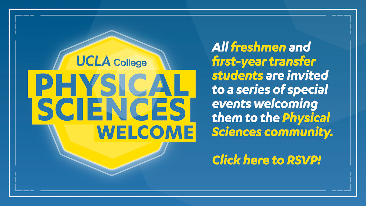 Physical Sciences new student welcome 2020